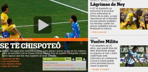 Olé usa verso do Chaves para falar do empate entre Brasil e México