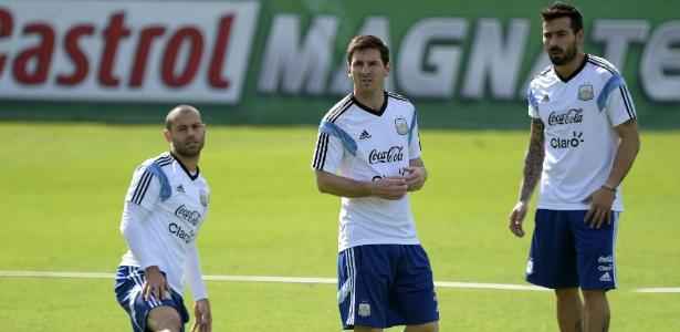 Hebei Fortune quer que Mascherano e Lavezzi (na foto) convençam Messi a atuar na Ásia