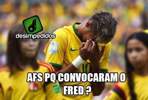 Neymar não se conforma com a convocação de Fred
