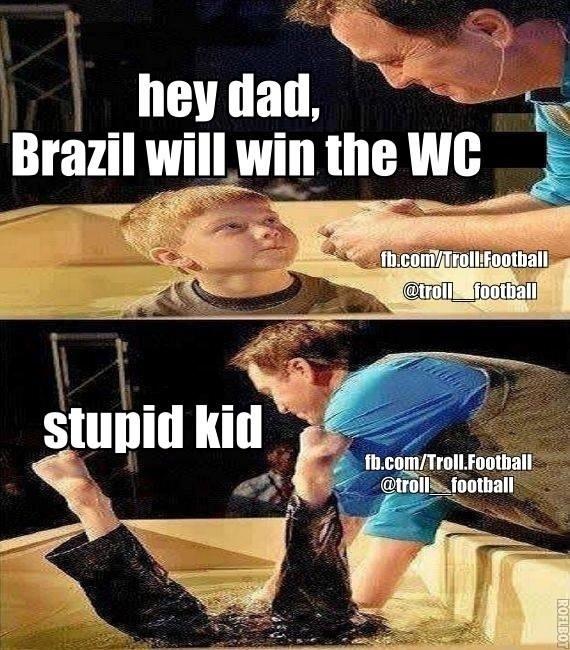 """""""Pai, o Brasil vai ganhar a Copa do Mundo. Criança estúpida"""". Torcedores estrangeiros não acreditam no Brasil campeão"""