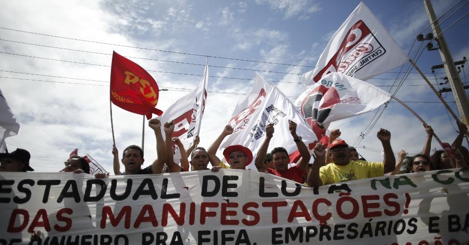 Protestantes pedem por melhores condições de vida em Fortaleza