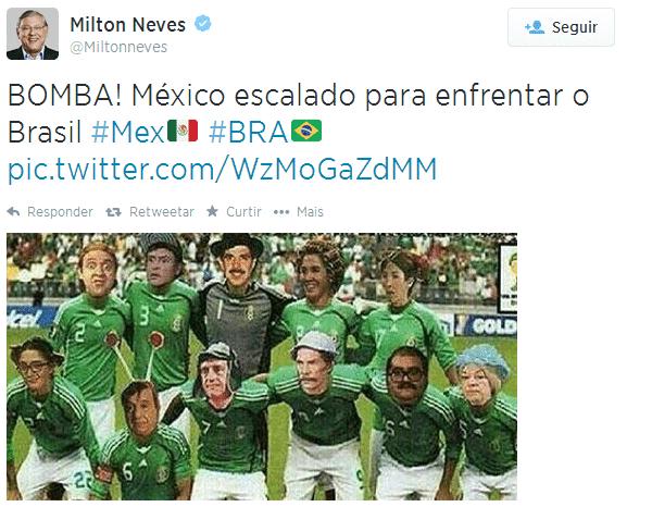 Seleção do México foi escalada pelos internautas