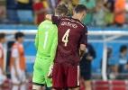 """Goleiro russo pede desculpa por """"erro infantil"""" em primeiro frango da Copa - EFE/EPA/JOSE COELHO"""