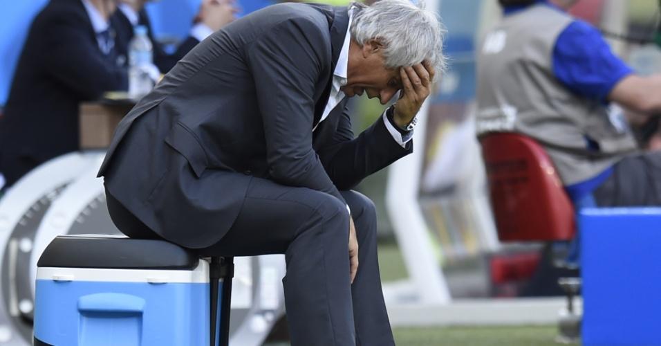 Técnico da Argélia Vahid Halilhodzic lamenta resultado negativo na estreia da Copa do Mundo, contra a Bélgica