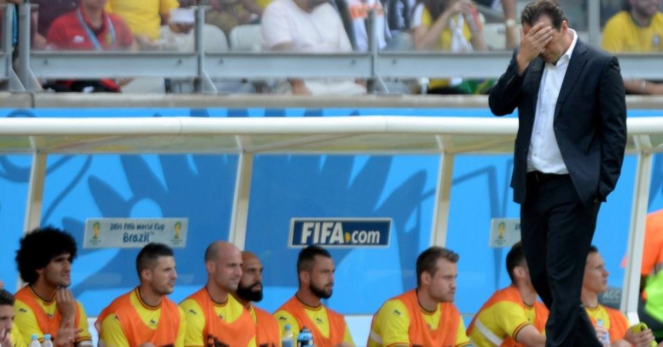 Técnico da Bélgica lamenta muito primeiro gol marcado pela Argélia, no Mineirão