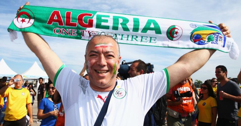 Torcedor argelino marca presença em Belo Horizonte para estreia na Copa do Mundo contra a Bélgica