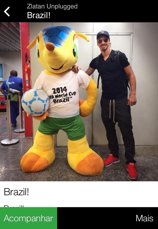 18. jun. 2014 - Ibra desembarca no Brasil e abraça o Fuleco