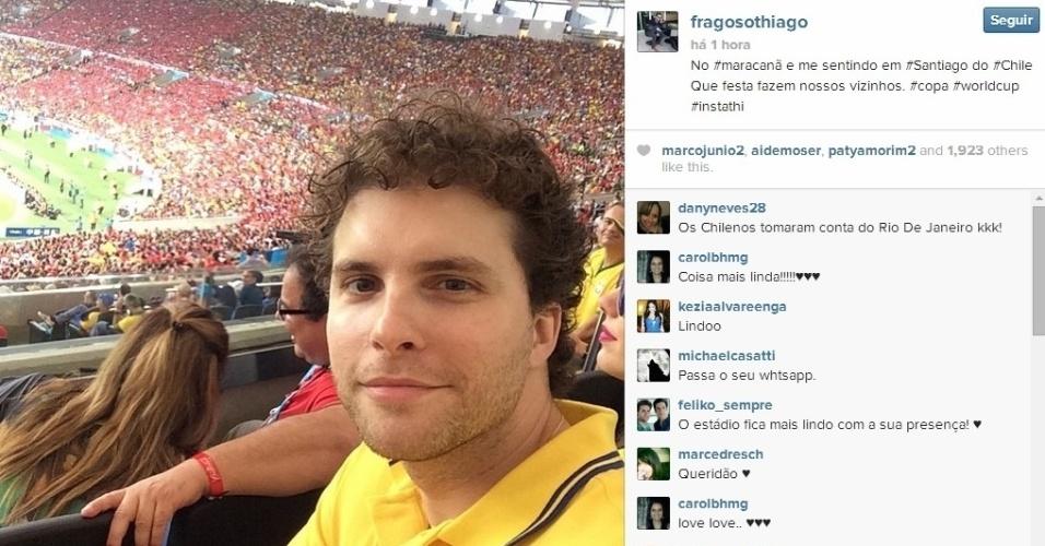 18.06.2014 - Ator Thiago Fragoso no Maracanã acompanhando Chile x Espanha