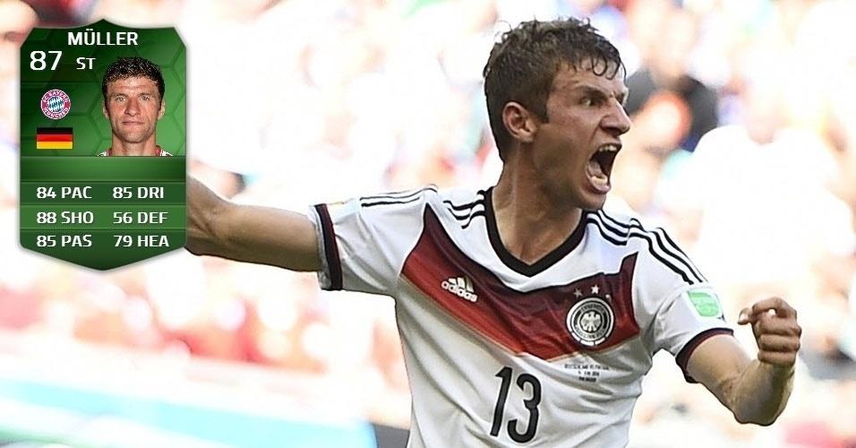 Alemanha 4 x 0 Portugal: Muller (86 para 87)