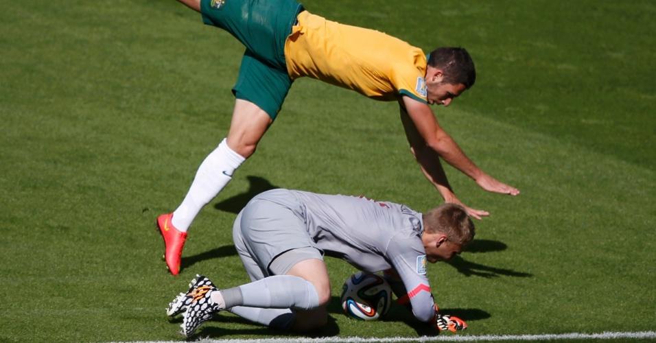 Austrália começou atacante mais no início da partida contra a Holanda