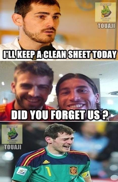 Casillas não está se dando bem com sua defesa