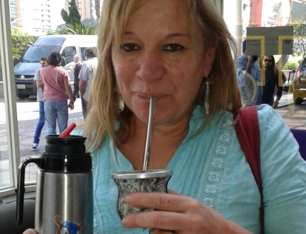 Diana Lugano, mãe de Diego Lugano, capitão do Uruguai