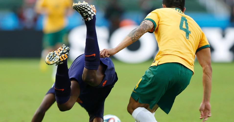 Dividida com Cahill acabou deixand Bruno Martins Indi desacordado em campo