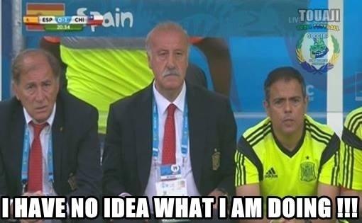 """""""Eu não faço ideia do que estou fazendo"""". Os internautas já perceberam isso, Del Bosque"""
