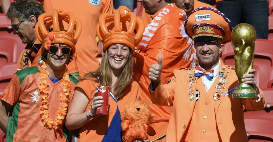 Holandeses capricham na fantasia para acompanhar o jogo contra a Austrália