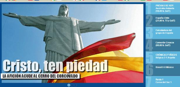 Manchete do site Marca, da Espanha