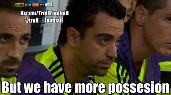 """""""Mas a gente tinha mais posse de bola.."""". Isso não foi suficiente para a Espanha contra o Chile"""