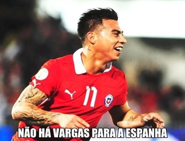 Nome do atacante chileno vira piada na web