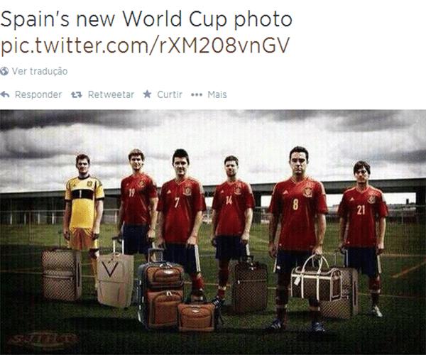 Nova foto oficial da Espanha para a Copa do Mundo