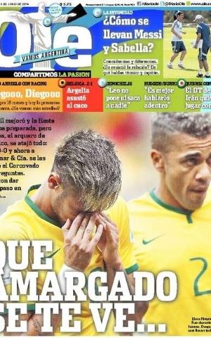 O argentino Olé afirmou que o empate deixou o país amargurado
