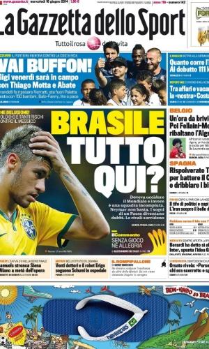 O La Gazzetta dello Sport questionou a qualidade da seleção brasileira para chegar ao título