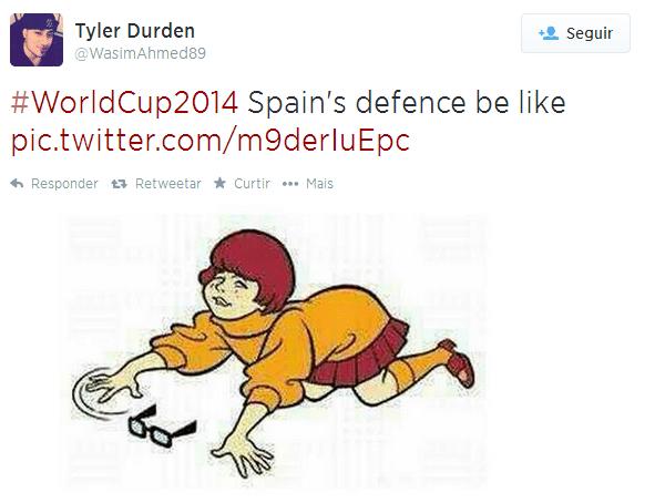 Parece que a Espanha perdeu seus óculos nesta Copa