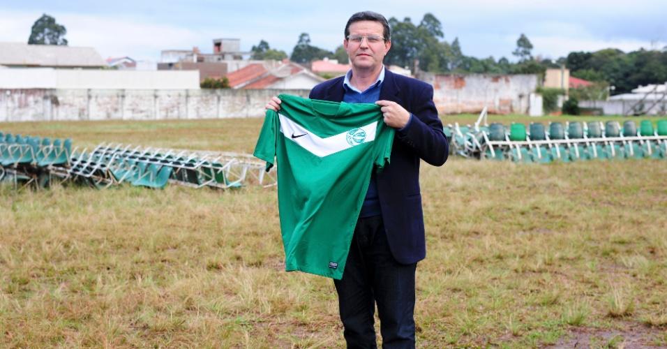 """Presidente do Gaúcho, Gilmar Rosso diz acreditar que Felipão torcia pelo time na infância: """"99,9% de quem mora no Boqueirão torce pelo Gaúcho"""""""
