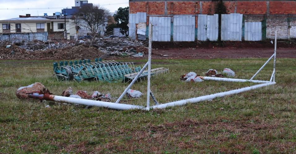O Sport Club Gaúcho perdeu o terreno, mas poderá reaproveitar materiais do antigo estádio no projeto da nova arena