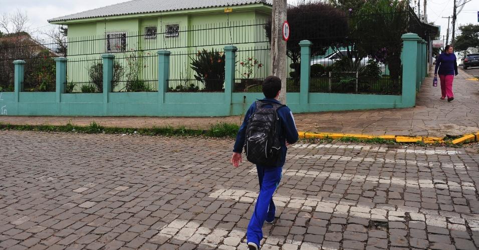 Casa onde Felipão viveu durante infância e adolescência na cidade de Passo Fundo, no bairro do Boqueirão