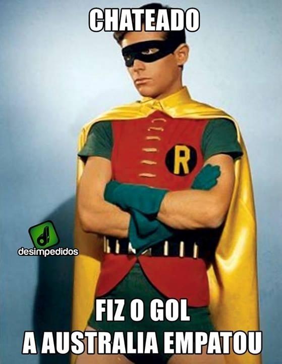 Robben fica chateado com o gol da Austrália