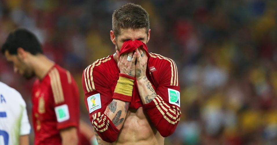 Sergio Ramos lamenta eliminação da Espanha na Copa do Mundo