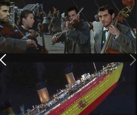 Titanic espanhol afundando na Copa