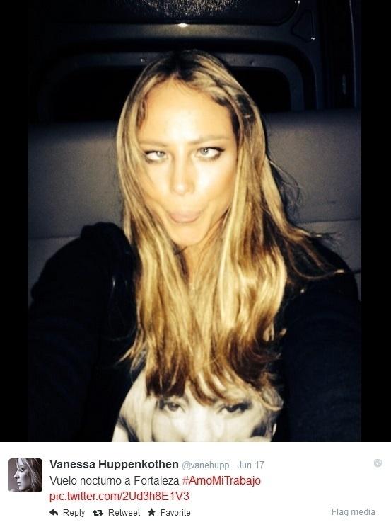 Vanessa mostra ser descontraída e gosta de rir de si mesma em seus posts no Instagram e Twitter