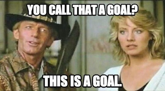 """""""Você chama isso de gol? Isso é um gol"""", diz Crocodilo Dundee"""