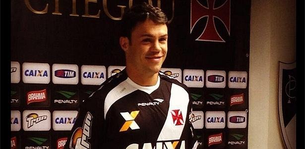 19 jun. 2014 - Kleber é apresentado como novo jogador do Vasco, durante evento em São Januário