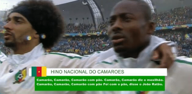 Camarões teve um hino que combina bem com seu nome