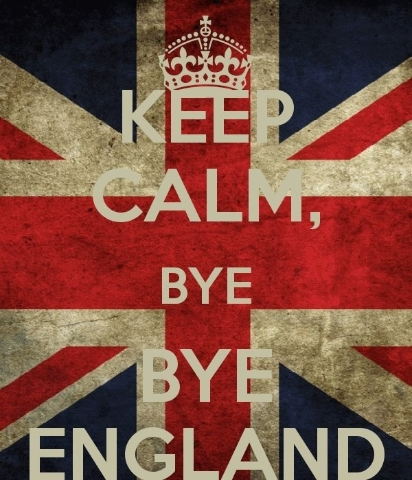 """""""Fique calmo e tchau, tchau Inglaterra"""""""