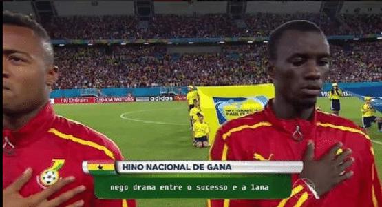Hino de Gana versão rap fez sucesso