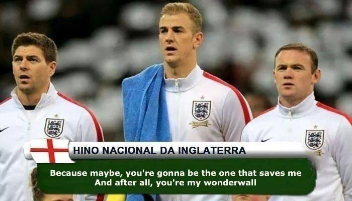 Inglaterra ganhou um hino bem famoso
