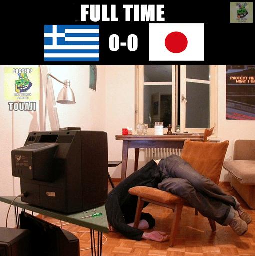Jogo entre Japão e Grécia não empolgou