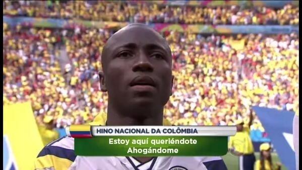O hino da Colômbia também ganhou a sua versão em homenagem à Shakira