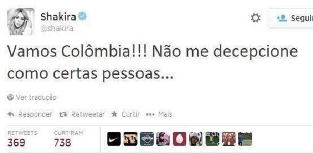 Shakira ainda espera sorrir nesta Copa