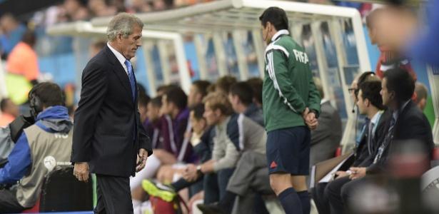 Óscar Tabárez, técnico da seleção do Uruguai e que anunciou que renunciará cargo na Fifa