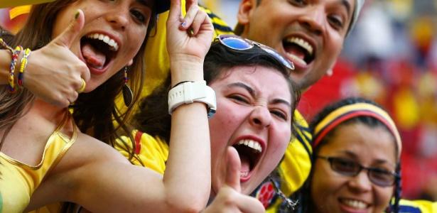 Torcedores colombianos já fizeram grande festa nas duas primeiras partidas da seleção na Copa de 2014