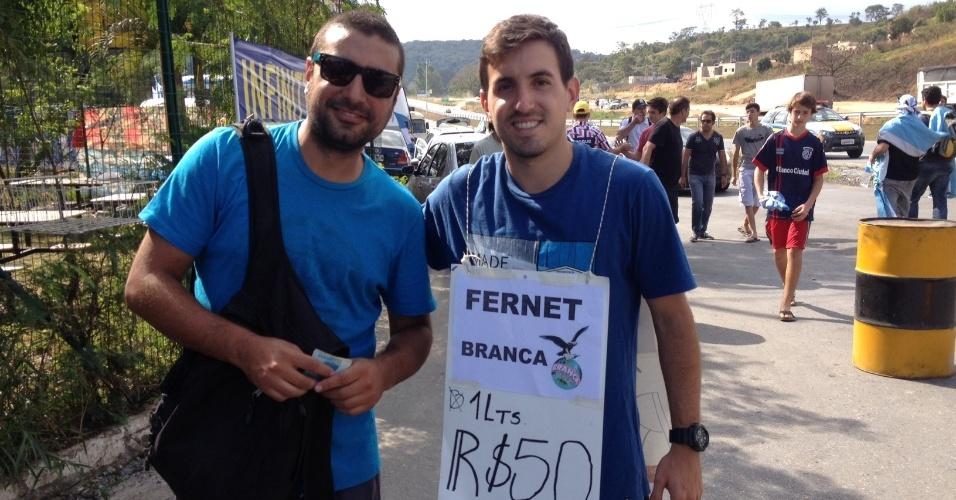 20.jun.2014 - Outro argentino anuncia Fernet branca por 50 reais