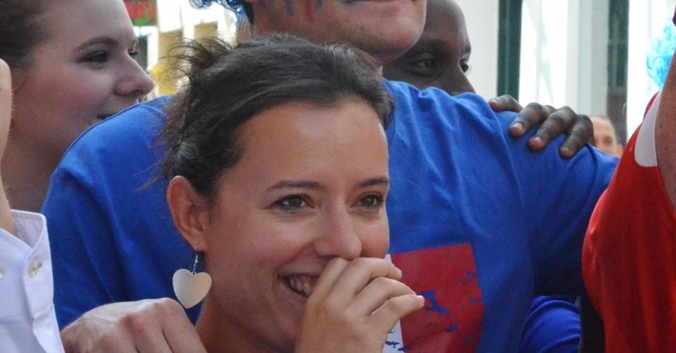 20.jun.2014 - Torcedores franceses ocupam ruas de Salvador antes de jogo contra a Suíça