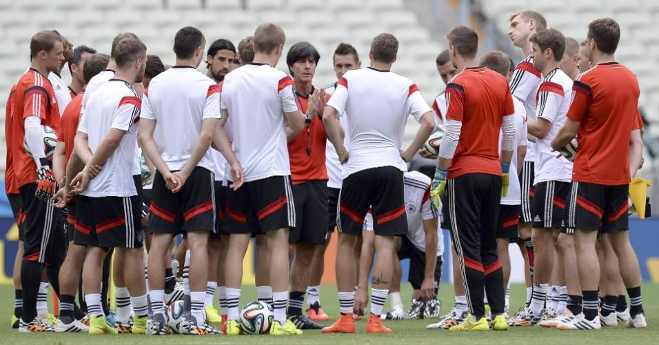 Alemanha treina pela última vez antes de enfrentar Gana, neste sábado, no Castelão