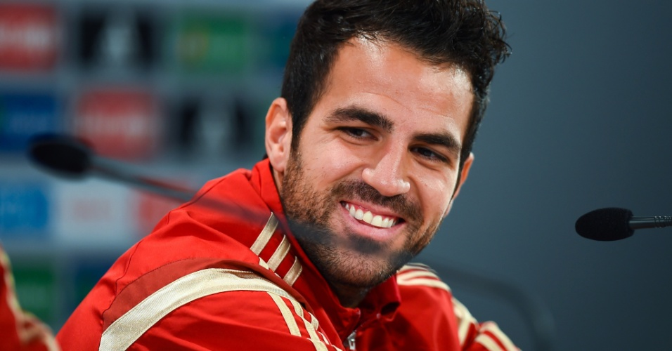 Cesc Fabregas, da Espanha, em coletiva durante a Copa
