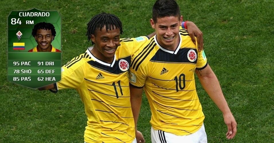 Colômbia 2 x 1 Costa do Marfim: Cuadrado (82 para 84)