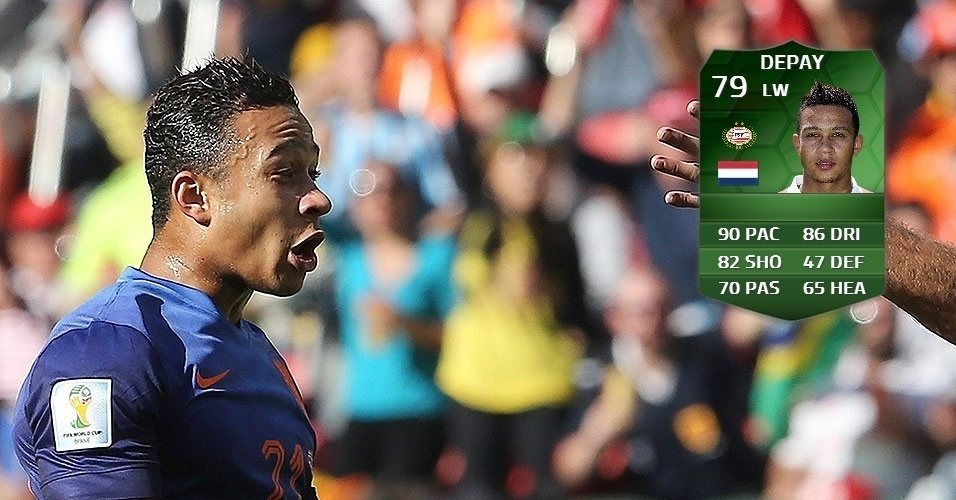 Holanda 3 x 2 Austrália: Depay (75 para 79)